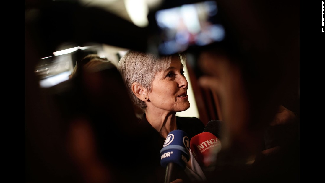 Jill Stein, the Green Party presidential candidate, attends a news conference in Washington on Tuesday, August 23.
