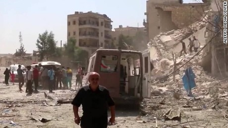 Activists says regime forces are using more barrel bombs in recent days, brutalizing the city even further.