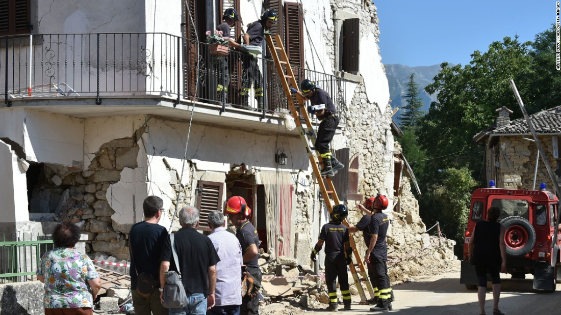 Italy Earthquake State Of Emergency Declared As Toll Hits CNN - Huge boulder narrowly missed house in italy