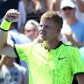 Kyle Edmund Celebrates US Open Round 1