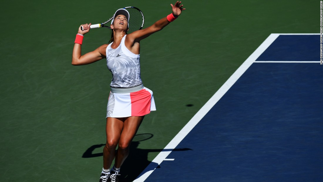 Muguruza, conqueror of Serena Williams in June's French Open, admitted she had trouble breathing after losing the first set 6-2. But, with Mertens competing in the main draw at Flushing Meadows for the first time, Muguruza recovered her poise to take the remaining two sets 6-0 6-3.