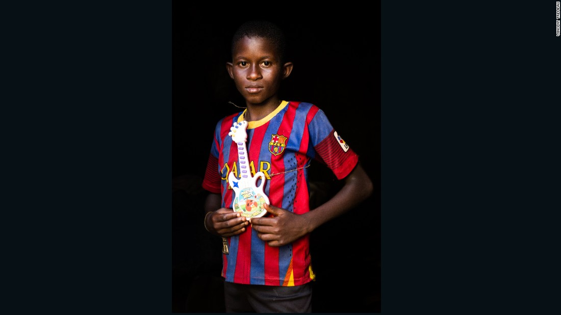 "Mahamat (Football Player or Musician), Central African Republic. ""One day, I will be a musician, or a football player in Barcelona""."