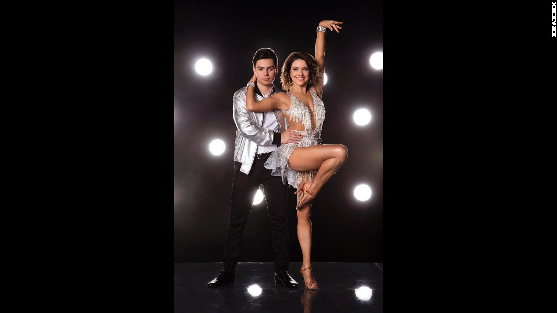 Actor Jake T Austin and pro dancer Jenna Johnson.