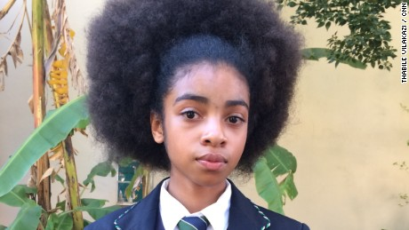South African students protest against school's alleged racist hair policy