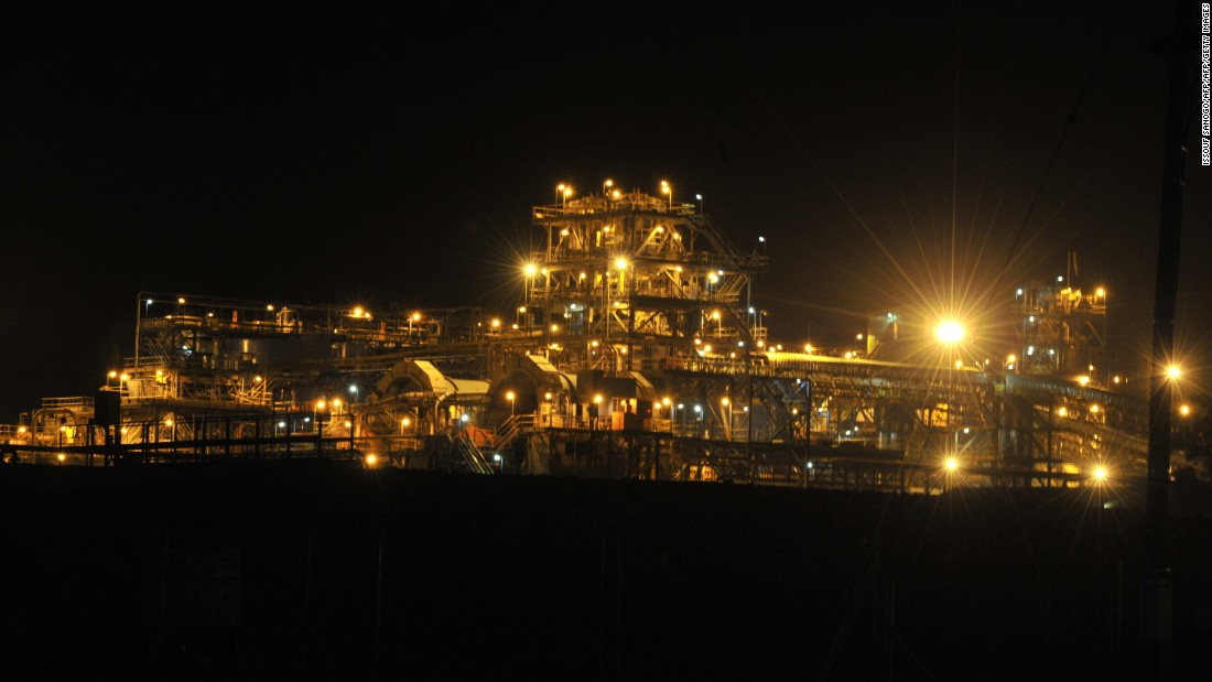 Night view of the Tongon mine in the north of the country, majority-owned by Pan-African Randgold Resources, one of the earliest gold mines, which has produced around 8 tons since 2011.  <br /><br />Ivory Coast has seen rapid increases in gold production in recent years. From an output of seven tons in 2010, the government is aiming to produce 22 tons this year. <br /><br />Randgold CEO Mark Bristow predicts the country can overtake neighboring Ghana, which is among the world's top 10 producers, with an output of 85 tons in 2015.