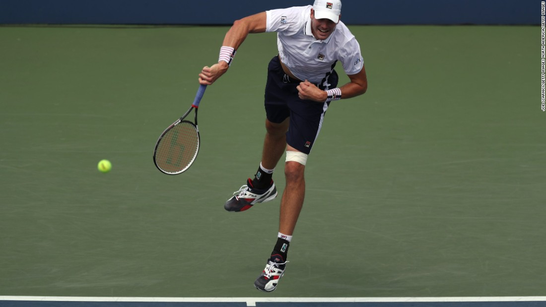 Top American male John Isner played five sets in the first round and went four against Steve Darcis on Wednesday. He squandered match points in the third before recovering, 6-3 6-4 6-7 (12-10) 6-3.