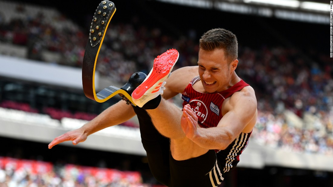 "Often referred to as the ""Blade Jumper,"" Markus Rehm won Paralympic gold in the long jump at the London Games in 2012 and holds the world record of 8.40 meters in the F44 competition class which he set at the world championships in Doha in 2015."