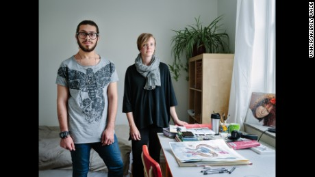 Single mother Linnea Tell opened her home to gay artist Alqumit Alhamad, who fled Syria fearing for his life.