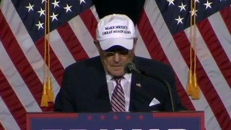 Former New York Mayor Rudy Giuliani speaks at a campaign event for Donald Trump on August 31, 2016.