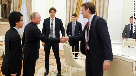 "Eton student Trenton Bricken wrote on Facebook: ""He (Putin) was small in person but not in presence."""