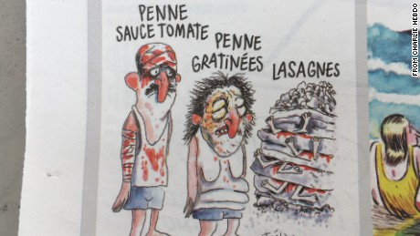 A controversial Charlie Hebdo cartoon on the deadly earthquake in Italy has sparked an angry response.