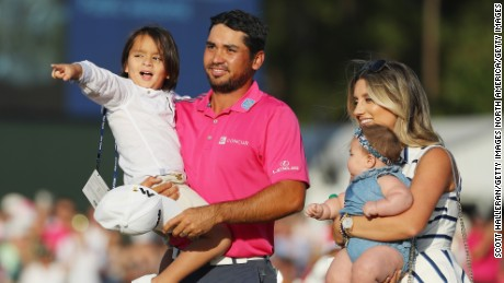 Jason Day of Australia pictured with his family in May 2016.