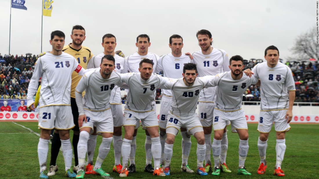 Kosovo's first international match was held in 2014, a friendly against Haiti which ended in a goalless draw.