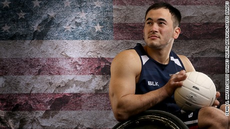 Paralympic wheelchair rugby player Chuck Aoki is a teacher off the sports field.