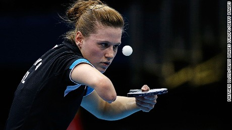 Table tennis star Natalia Partyka.