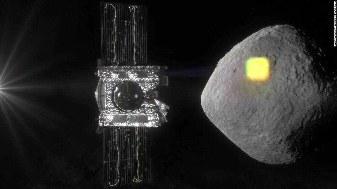 OSIRIS-REx will spend two years mapping and scanning Bennu before taking a sample of the asteroid and flying it back to Earth.