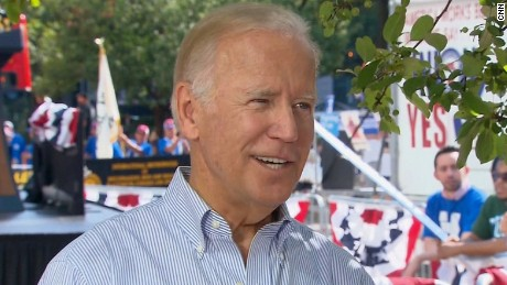 Biden: Clinton knows she has a trust problem