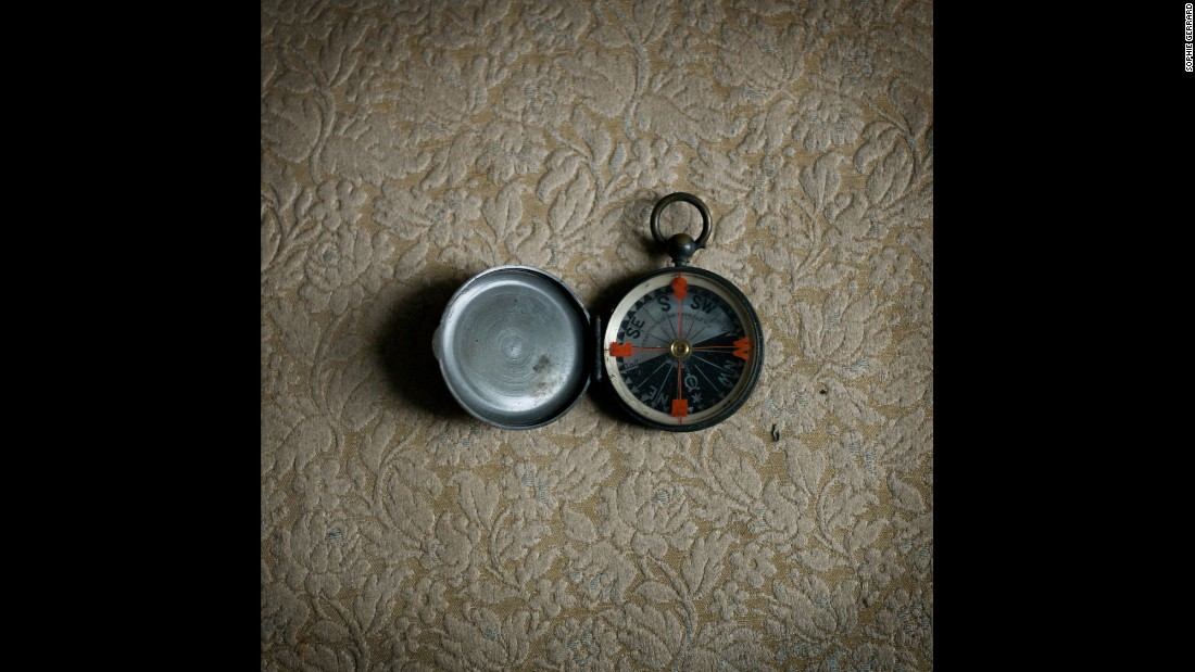 Lorraine Luescher comes from a long line of Scottish farmers. Seen here is her father's compass.
