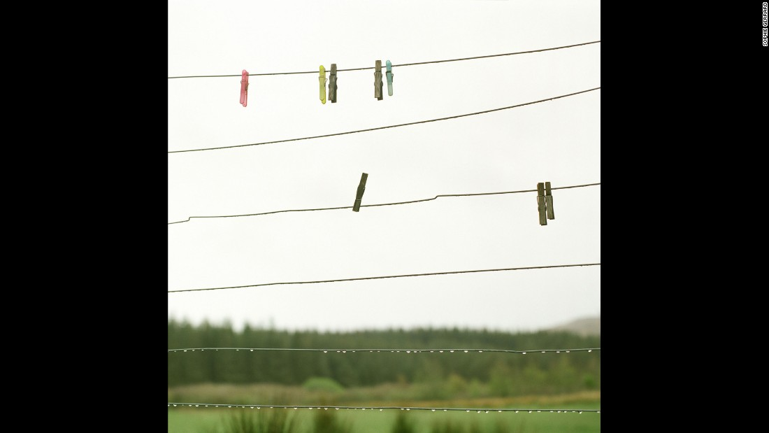 "Minty MacKay's washing line on the Isle of Mull. ""It's important that the land is lived on,"" MacKay told Gerrard. ""You need to live there because then one's heart is in it. The land suffers when the heart isn't there."""