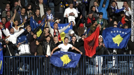 Some 11,000 Kosovo fans will travel to Albania for the game with Croatia.