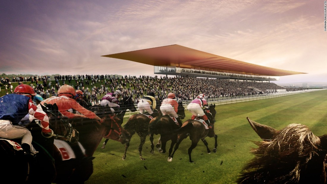 How the new-look Curragh will appear on a racing day.