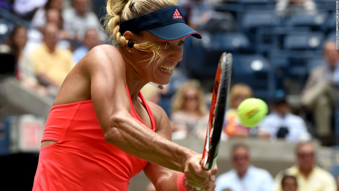 Angelique Kerber, the Australian Open champ and Wimbledon finalist, moved into the semifinals at the US Open.