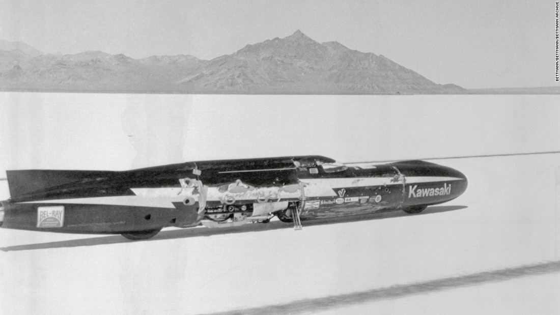 The motorcycle land speed record has a long and competitive history, dating back to the start of the 20th century. Pictured is the Lightning Bolt streamliner, driven by Don Vesco. In 1978, the American reached 319.6 mph, breaking his own three-year record with a speed that would stand for 12 years.<br />
