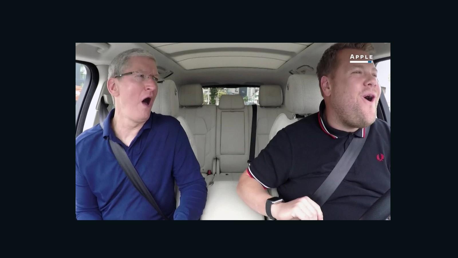 Apple S Tim Cook Does Carpool Karaoke CNN Video