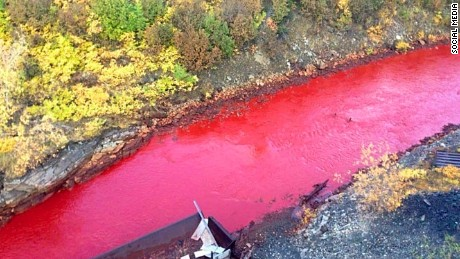 Residents told the local newspaper that it's not the first time the river has changed color.