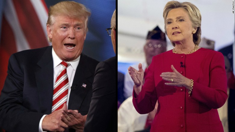 Trump, Clinton show stark divide over military
