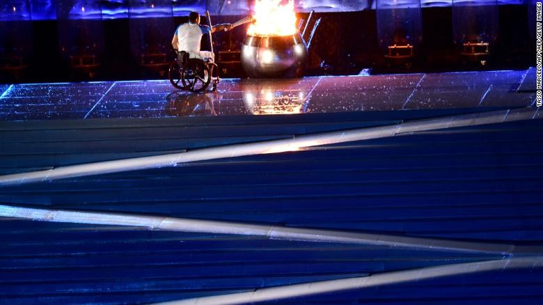 Clodoaldo Silva lights the cauldron at the opening ceremony & Paralympics 2016: Opening ceremony kicks off Games - CNN azcodes.com