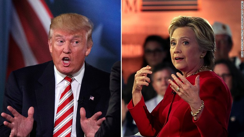 Clinton, Trump throwdown at presidential forum