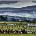Curragh racecourse Ireland mountains