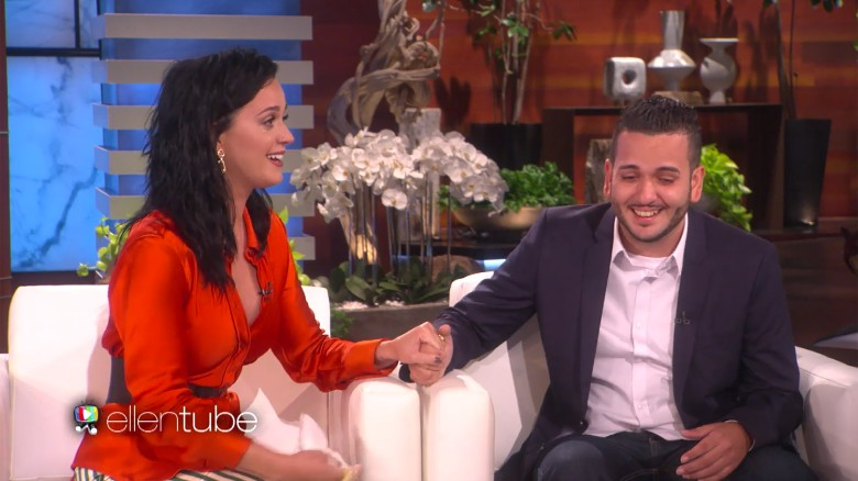Katy Perry surprises Orlando shooting survivor on 'Ellen'
