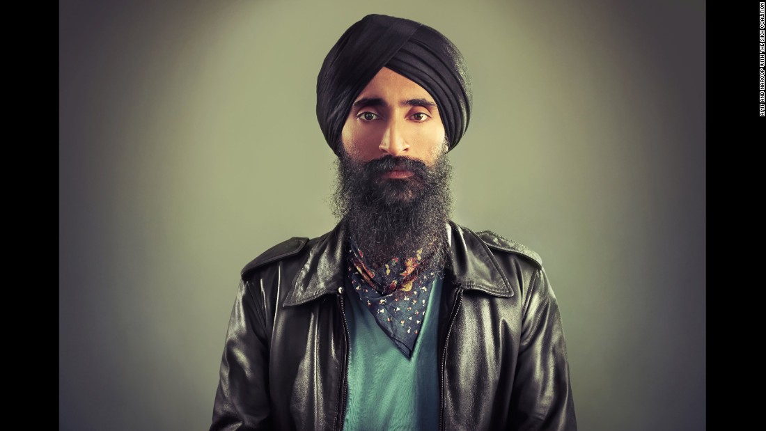 "For Sikhs, the turban is not about culture, it's an article of faith that is mandatory for men. The turban is also a reason why Sikh men have been targeted and attacked in America, especially after 9/11. Turbans were featured in ""The Sikh Project,"" a 2016 exhibition that celebrated the Sikh American experience. British photographers Amit and Naroop partnered with the Sikh Coalition for the show. This photo is of New York actor and designer Waris Singh Ahluwalia, who was kicked off an Aero Mexico flight in February after refusing to remove his turban at security."