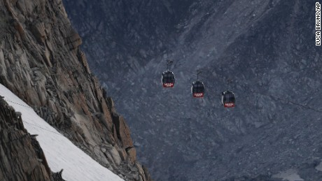 The cars are at an altitude of nearly 12,000 feet.