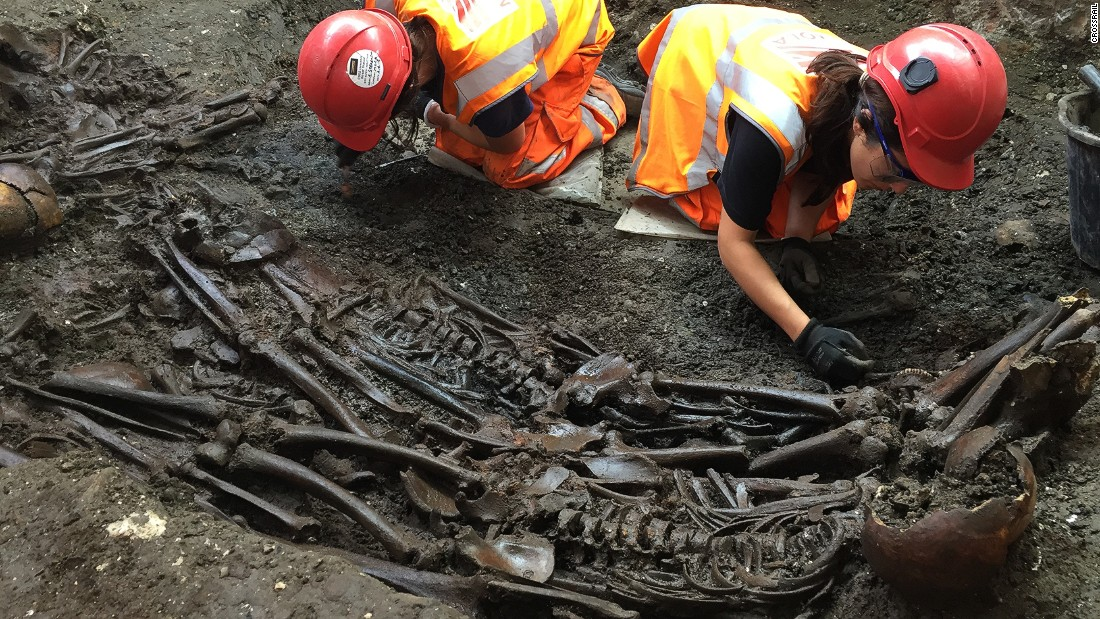 "An investigation of skeletons buried during the 1665 Great Plague of London <a href=""http://www.cnn.com/2016/09/09/health/great-plague-of-london-dna-skeletons/index.html"">revealed the DNA of the bacteria responsible for the disease</a> in 2016. The skeletons were discovered in an ancient burial site during construction of London's Crossrail train line."
