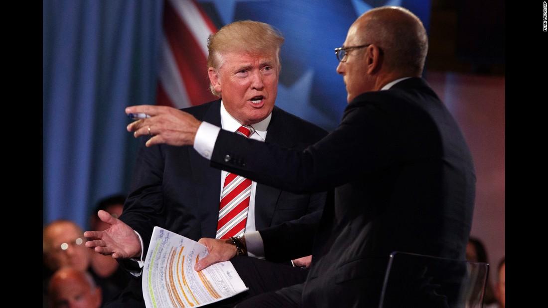 Donald Trump calls for debates with 'no moderator'