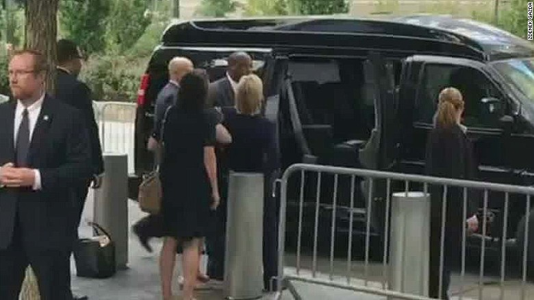 Hillary Clinton leaves 9/11 event early RS _00005305