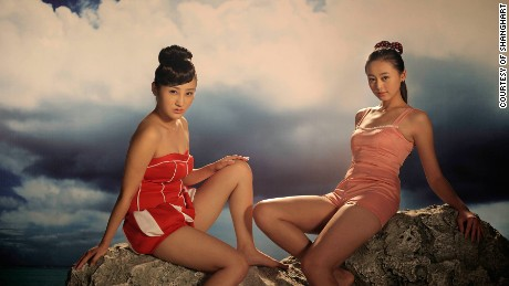 "World-renowned filmmaker and video artist Yang Fudong's ""The Coloured Sky: New Women II"" is a series of fantastical renditions of female beauty in dreamlike contexts, as told from a male gaze. The costumes recall the 1930s — but the scenes refer more to imagination than to any one social context."