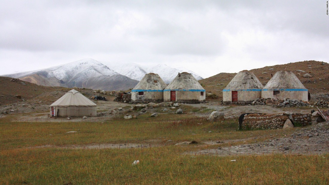 A collection of yurts along the Karakoram Highway.