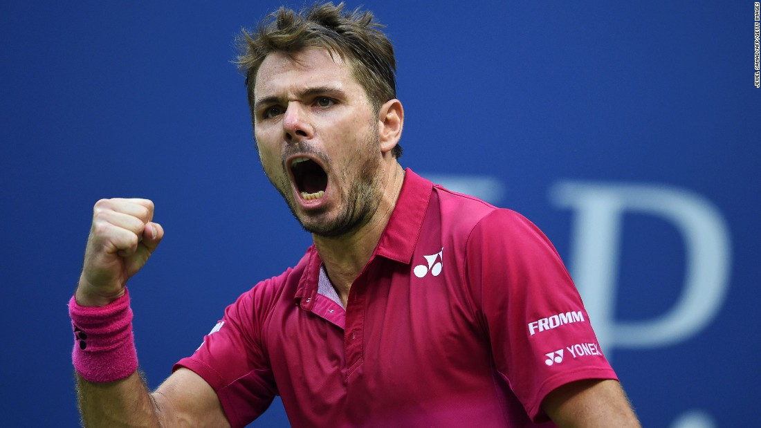 "Stan Wawrinka reacts after winning a set against Novak Djokovic during the US Open final in New York on Sunday, September 11. Wawrinka went on to win his third grand slam title, <a href=""http://www.cnn.com/2016/09/11/tennis/wawrinka-djokovic-us-open-final-tennis/index.html"" target=""_blank"">upsetting the world No. 1 Djokovic</a> after a four-hour match."