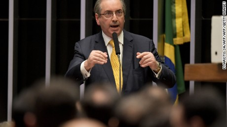 Eduardo Cunha, delivering a speech during a Chamber of Deputies session.