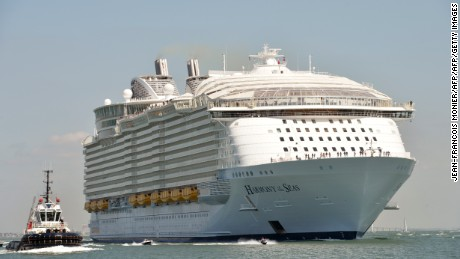 Harmony of the Seas is the world's largest cruise liner, measuring 1,188 feet long (362 meters).