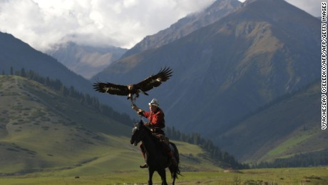 Eagle hunting is one of the events at the Games.