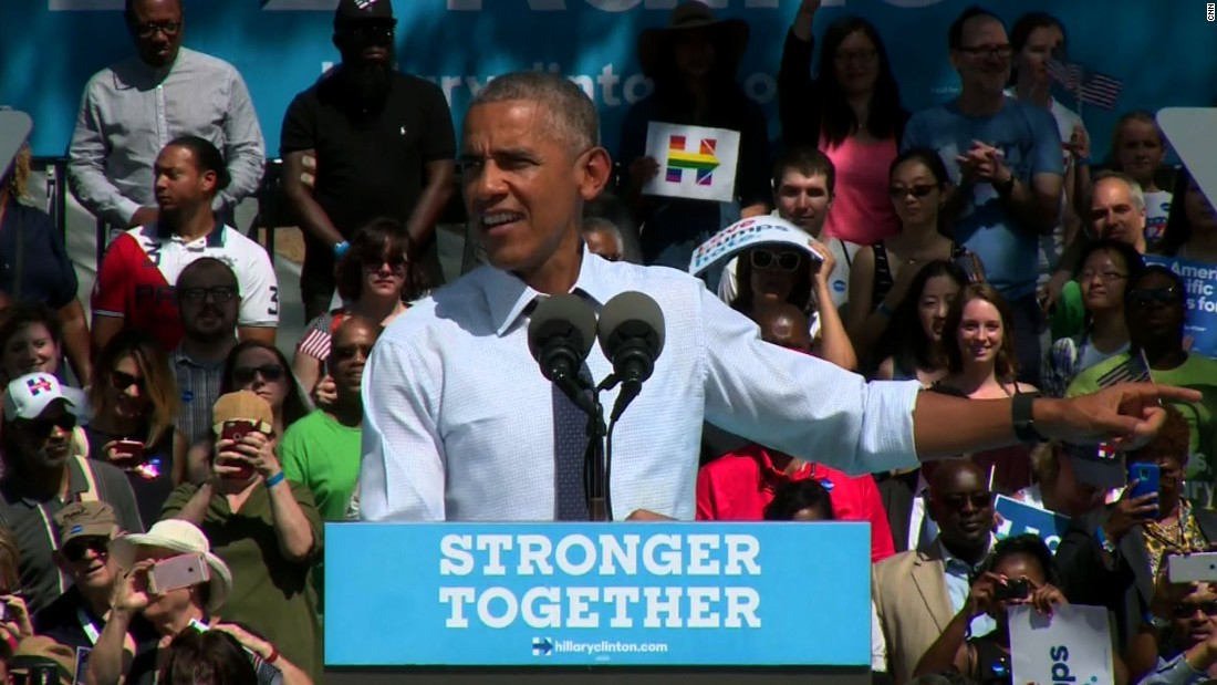 11 memorable quotes from Obama stumping for Clinton