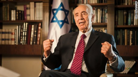 Israel's President Shimon Peres speaks during an interview with The Associated Press, at his residence in Jerusalem, Tuesday, July 15, 2014. Peres said the killing of civilians by Israeli air raids on Gaza presents a moral dilemma, but argues there is scant alternative as long as the Islamic militants who rule the coastal strip refuse to stop firing rockets at much of Israel. (AP Photo/Dan Balilty)