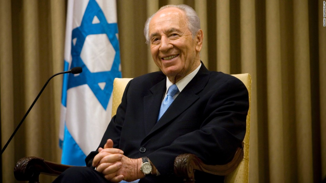Former Israel Prime Minister and Nobel laureate Shimon Peres' career in politics spanned several generations. He's seen here during a meeting with Czech Foreign Minister Jan Kohout on May 5, 2010.