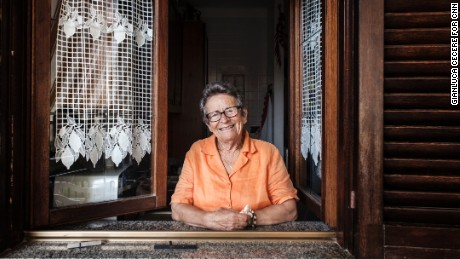Maria Del Prete, 87, puts her long life down to the fact she eats good, natural food and never stands still.