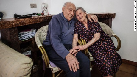 Antonio and Amina say eating fresh food, including their own rabbits and chickens, has kept them healthy.